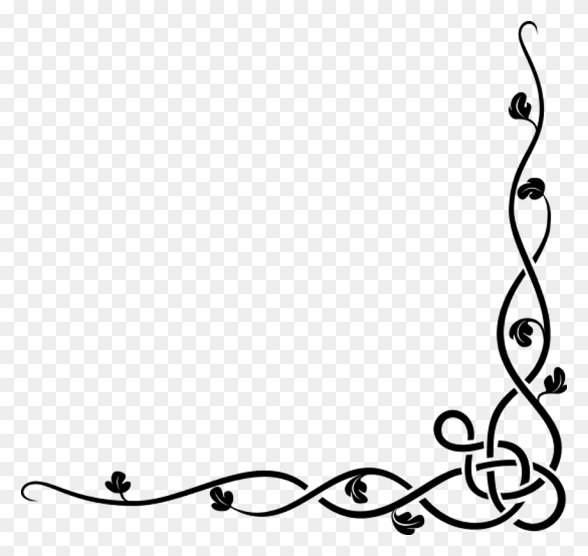 Celtic Vines Tattoos Vine Corner Clip Art Free Border Tattoo Ine - Simple Banner Clipart