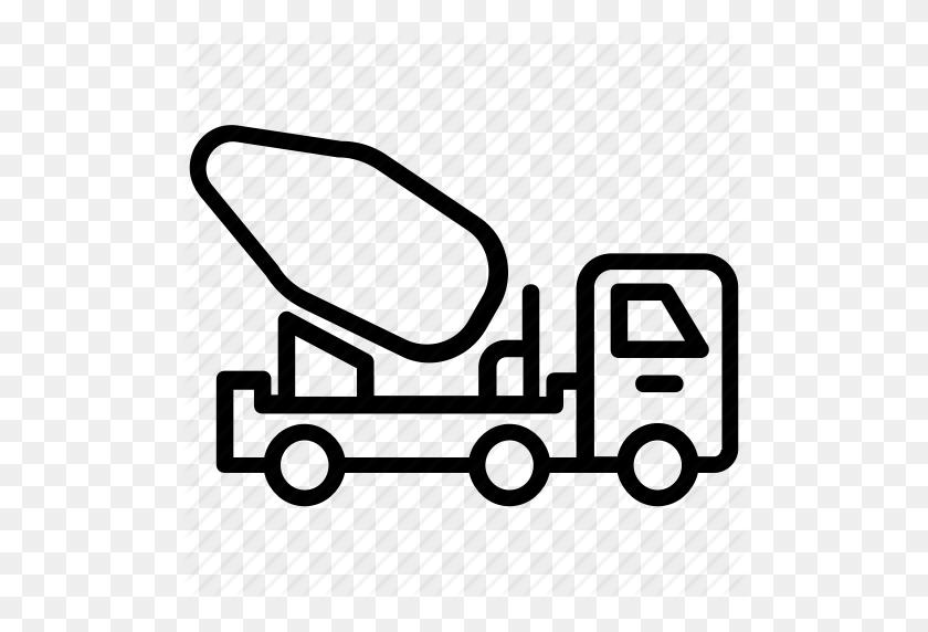 Cement Mixer, Cement Truck, Concrete Mixer, Concrete Truck, Mixer - Cement Mixer Clipart