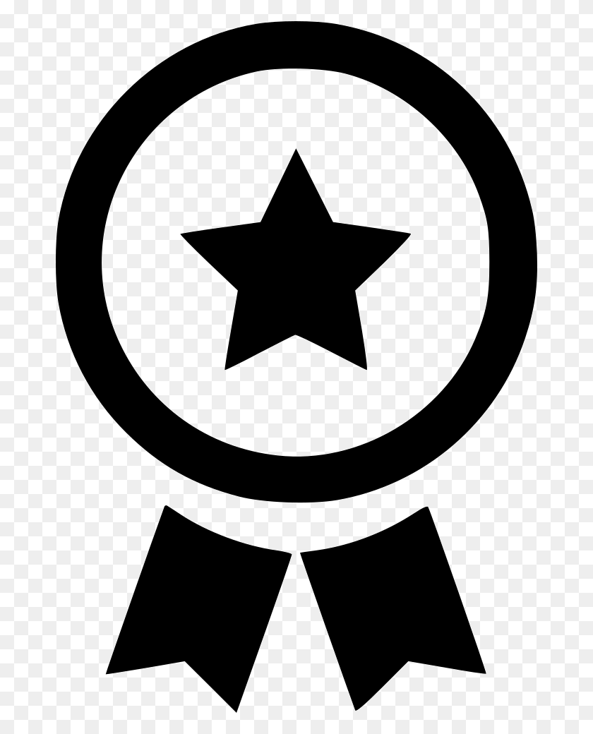 Certificate Medal Collection Star Png Icon Free Download - Medal Clipart Black And White