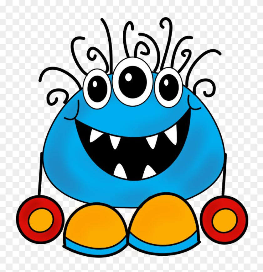 1288x1334 Ch B Monster Clip Art Cartoon Free Clipart Images Clipart - Monster Eyes Clipart