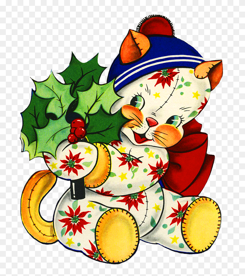 Charming Vintage Christmas Clip Art - Simple Christmas Clipart