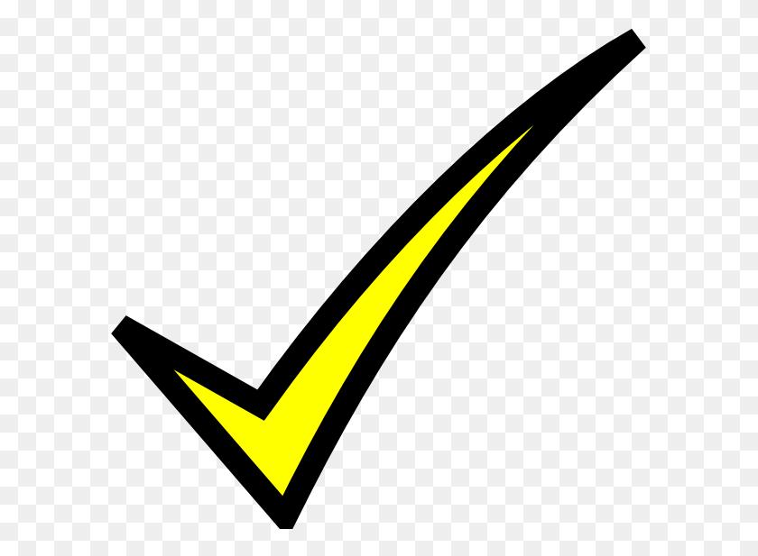 Check Mark Yellow Clip Art - Losing Clipart