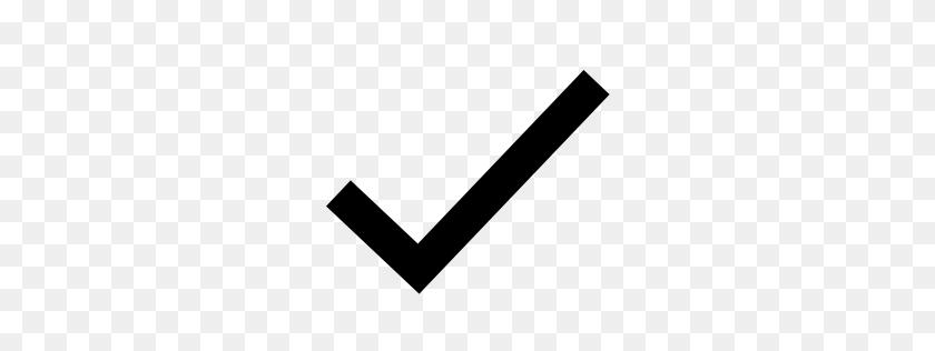 Checkmark Icon Glyph - White Checkmark PNG