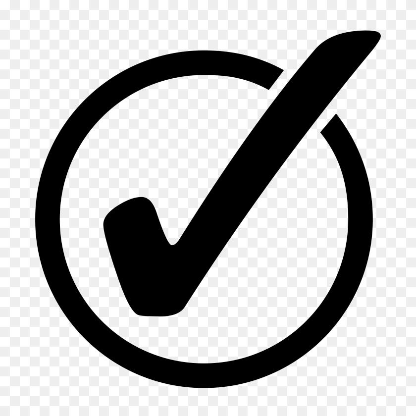 2400x2400 Checkmark On Circle Icons Png - PNG Check Mark