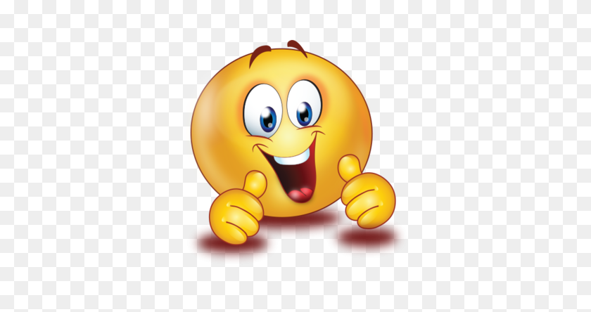 Cheer Excited Two Thumb Up Emoji - Excited Emoji PNG