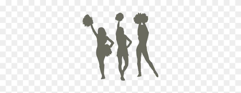 Cheerleaders - Cheerleader Silhouette PNG
