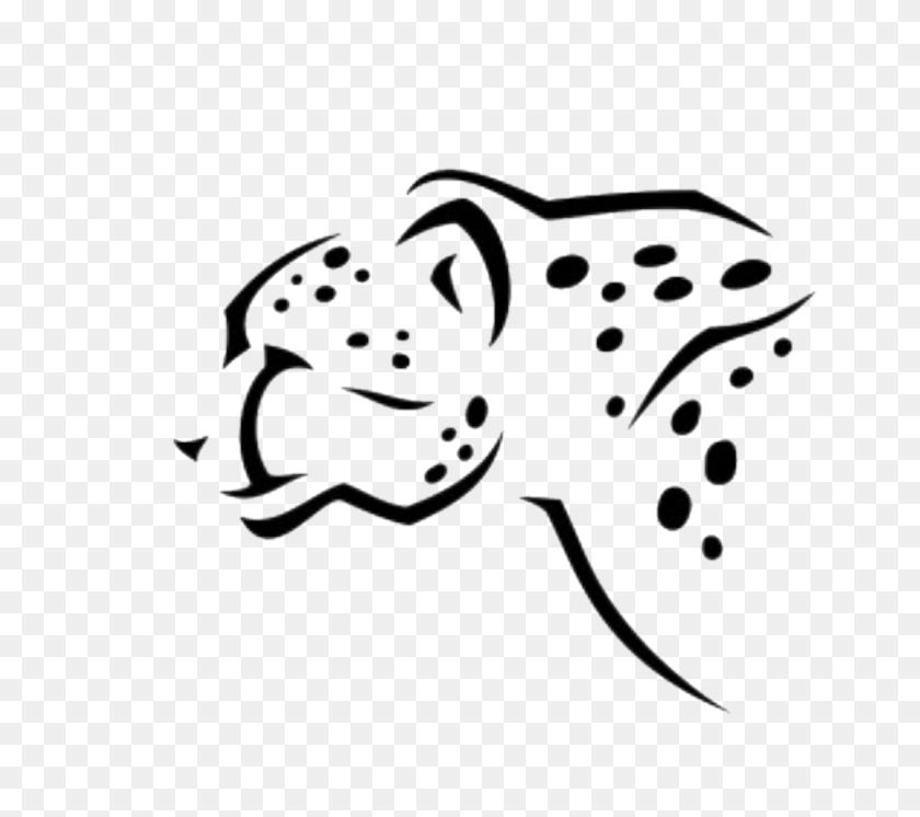 Cheetah Bigcats - Cheetah Black And White Clipart