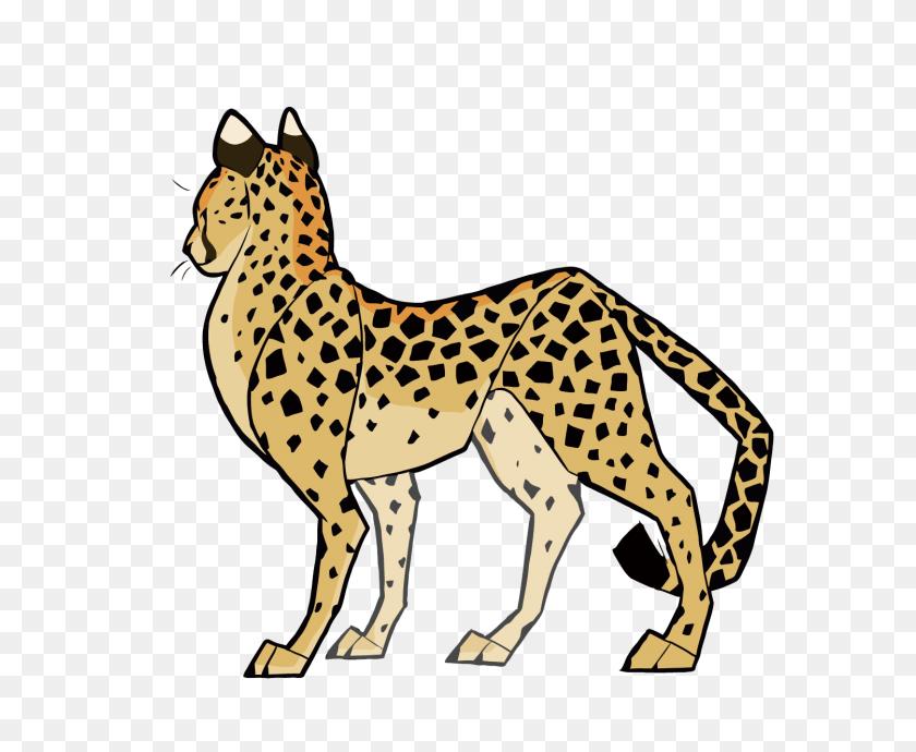 Cheetah Cat Cougar Clip Art - Baby Cheetah Clipart
