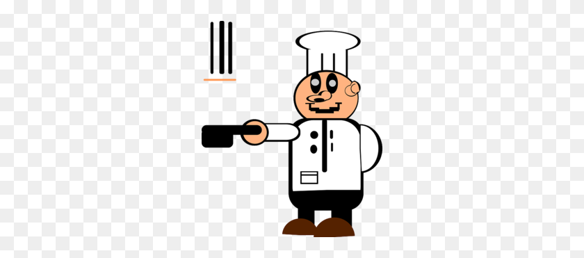 Chef Cooking Pancake Supper Clipart - To Cook Clipart