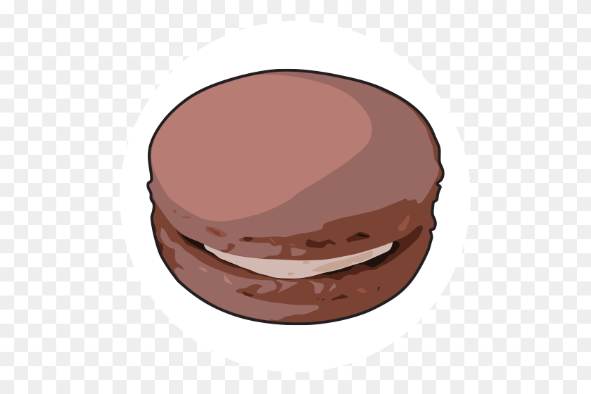 Chef Rubber Brown Macaron Color - Macaron PNG