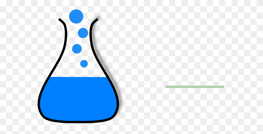 Chem Flask Blue Clip Art - Science Beaker Clip Art