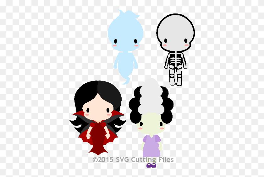 Chibi Halloween Kids Templates File, Templates - Broken Vase Clipart