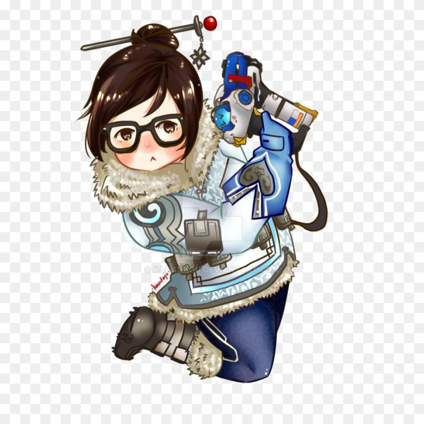 894x894 Chibi Mei - Mei Overwatch PNG