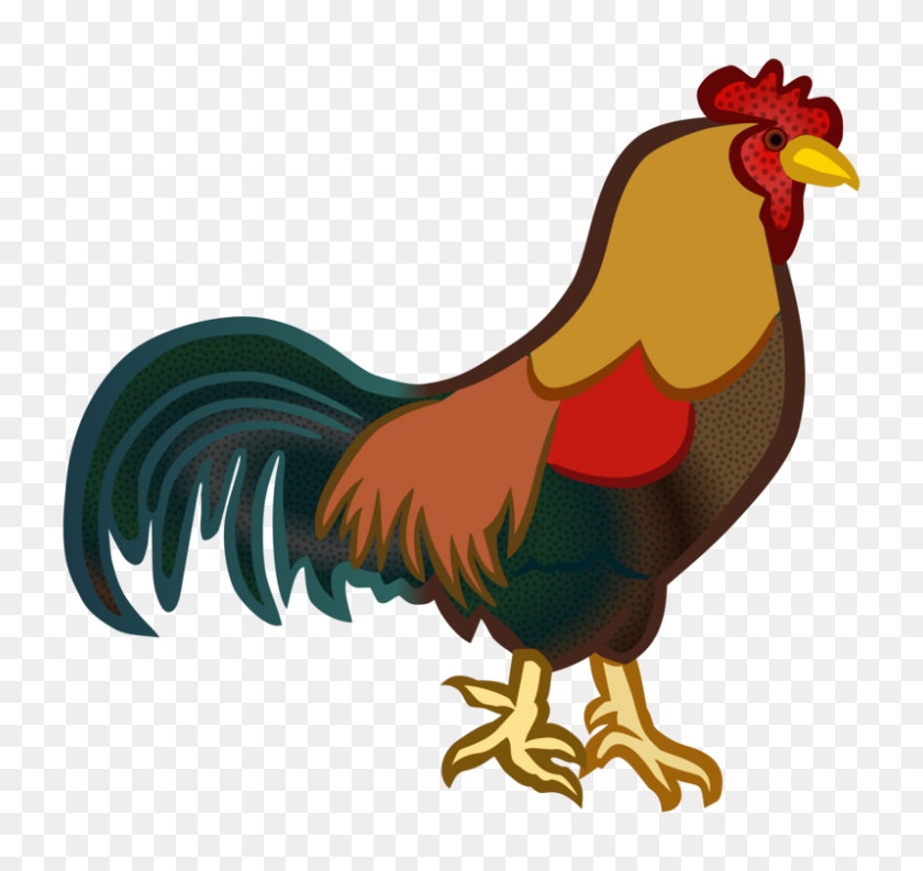 Chicken Rooster Computer Icons Galliformes Fowl - Rooster Clipart