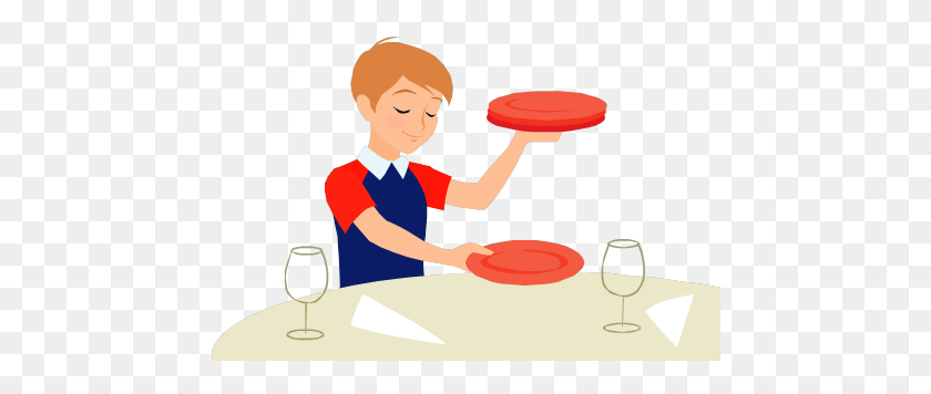 Child Setting The Table Clipart, Table Setting Clipart - Place Setting Clipart