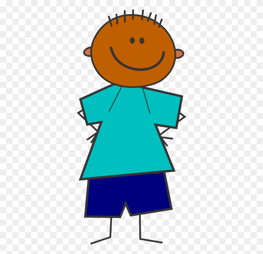 Child Stick Figure Drawing Boy Cartoon - Stick Figure Boy Clipart