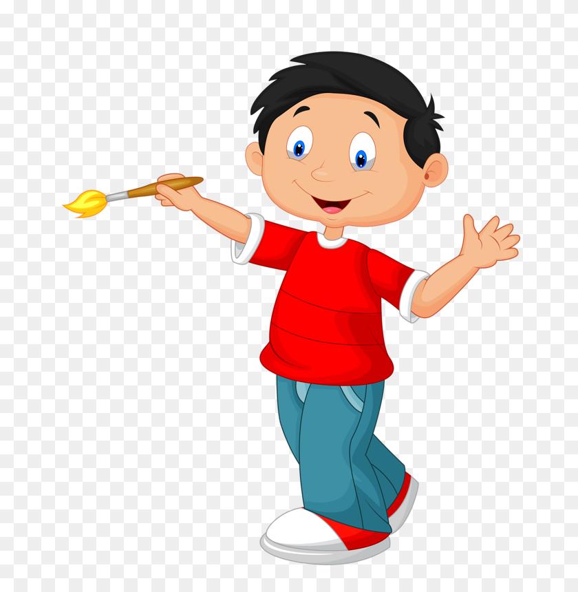 Children Clip Art, Children And Boys - School Kids Clipart