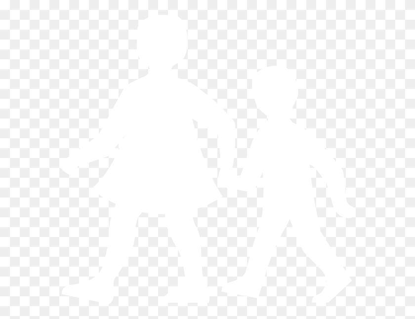 Children Walking White Clip - Kids Walking PNG