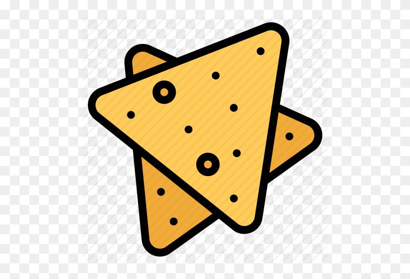 Chips, Food, Nachos, Snack Icon - Nachos PNG