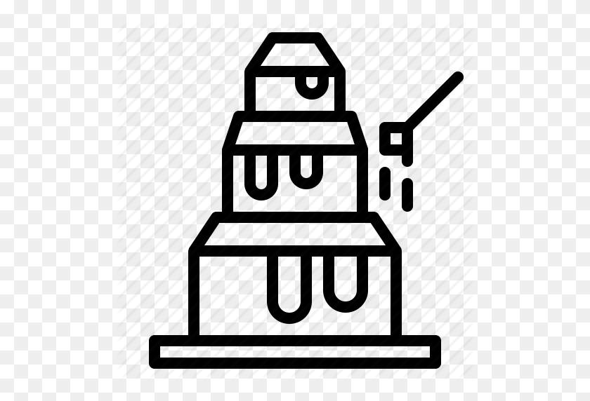 512x512 Chocolate, Chocolate Fountain, Wedding Icon - Chocolate Fountain Clipart
