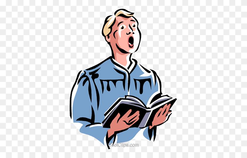 365x480 Choir Boy Royalty Free Vector Clip Art Illustration - Free Clipart Choir Singing