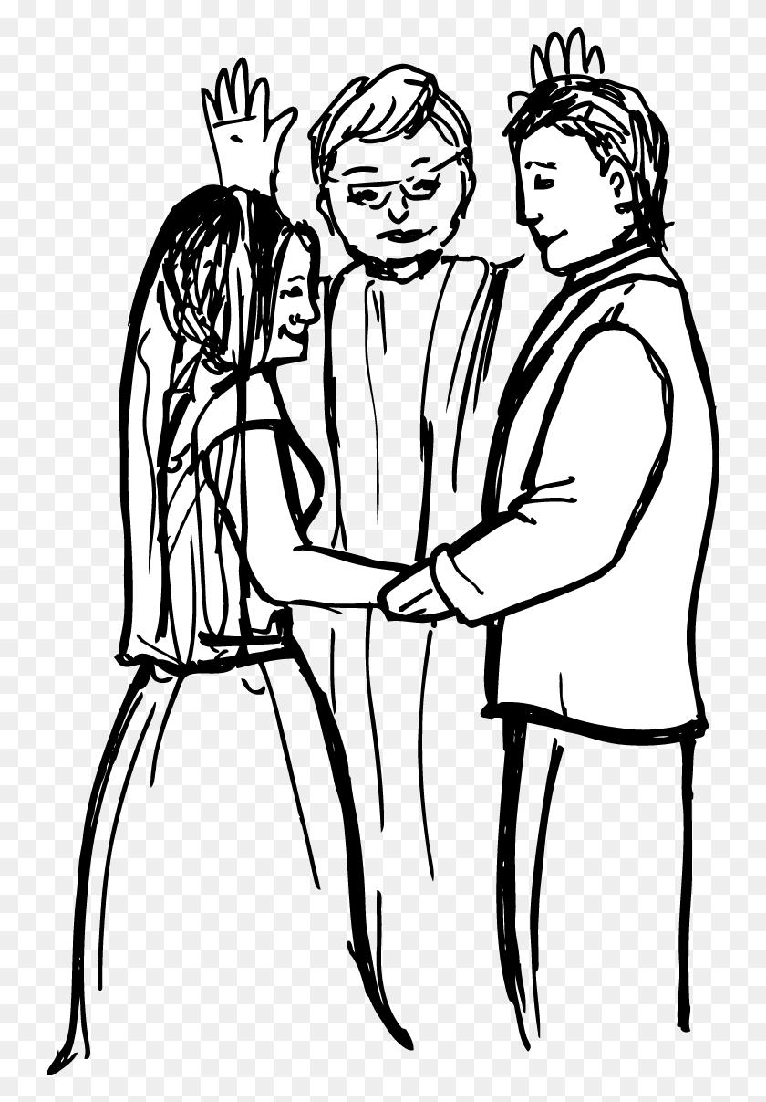 Christian Church Wedding Bride Clip Art - Church Clipart Black And White