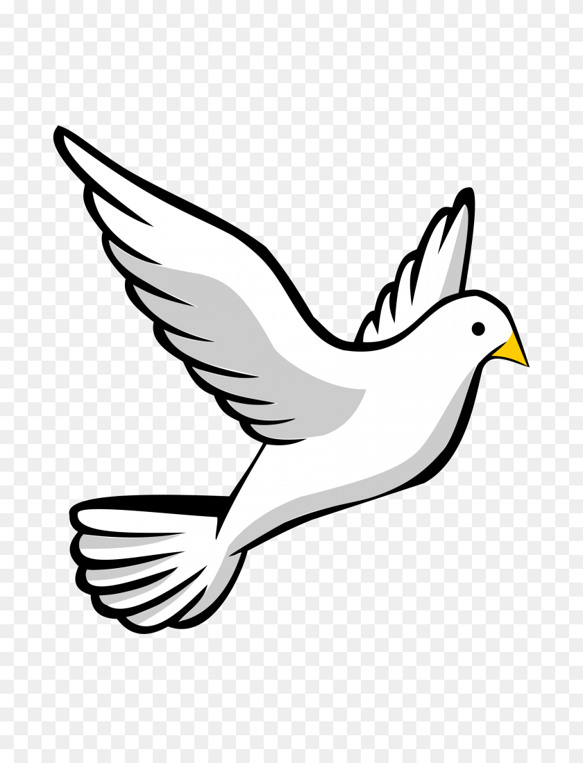 Christian Clip Art Graphic Descending Dove Solid White Dove - Alzheimers Clipart