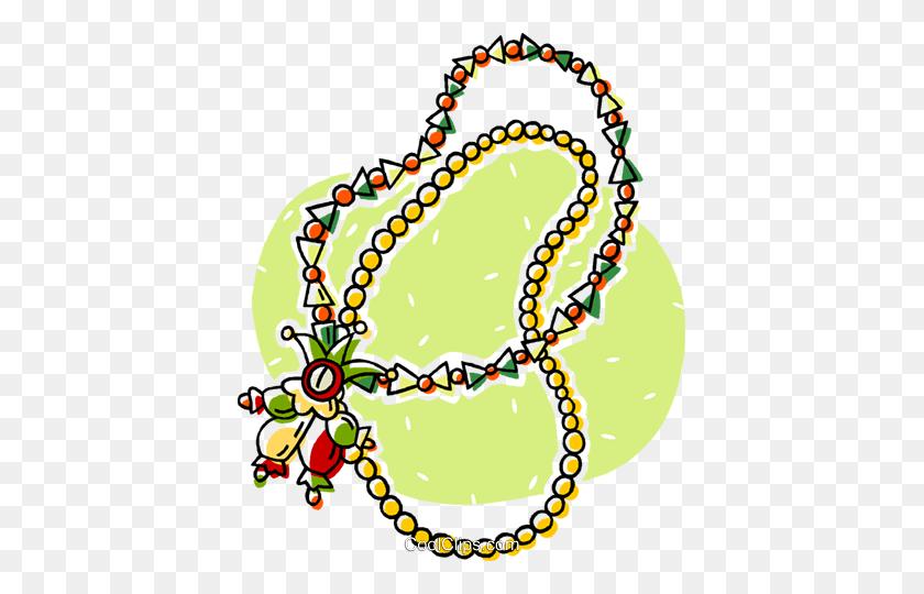 Christmas Beads Royalty Free Vector Clip Art Illustration - Mardi Gras Beads Clip Art
