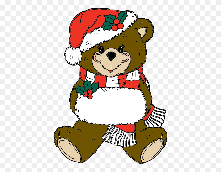 Christmas Bear Png, Clip Art For Web - Teddy Bear Clipart PNG