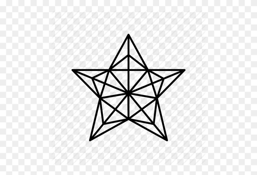 Christmas, Christmas Tree, Christmas Tree Star, Origami, Outline - Star Outline PNG