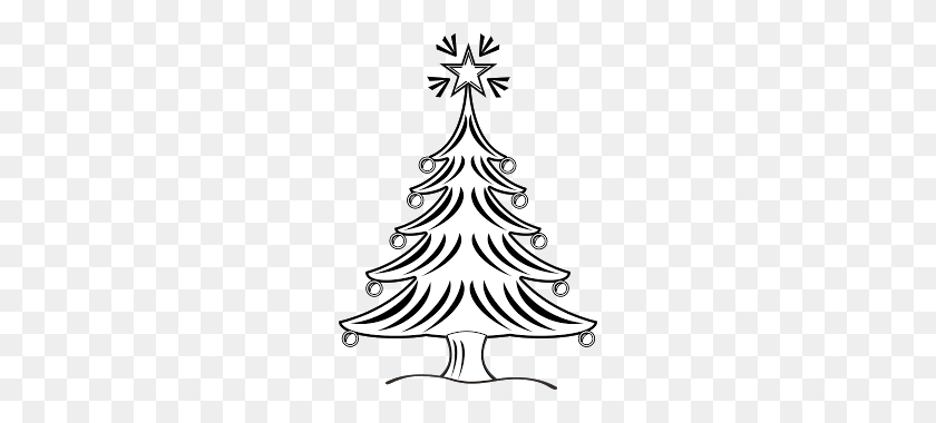 Christmas Tree Black And White Evergreen Trees Clipart Black