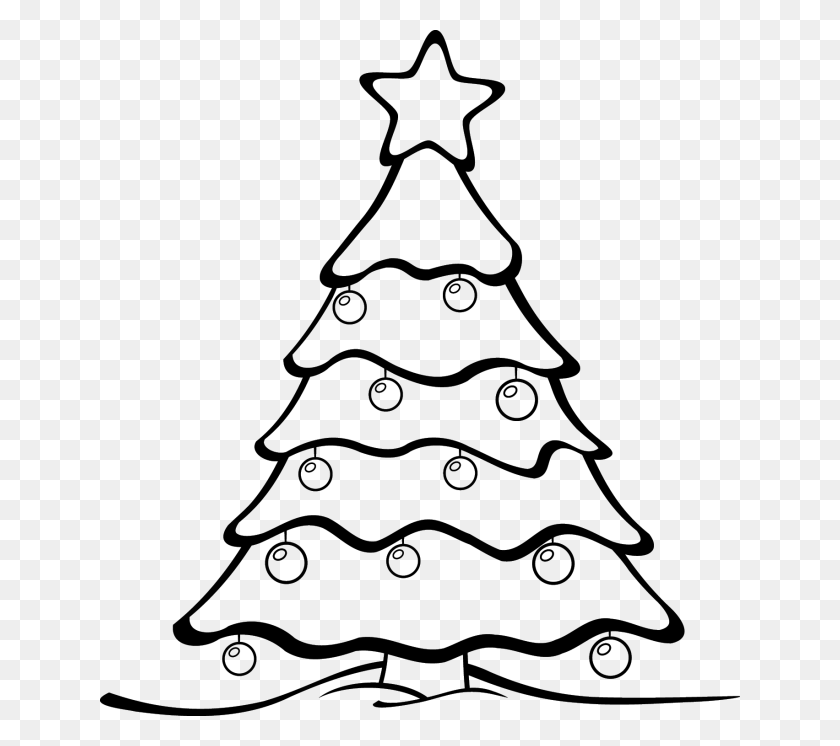 Christmas Clipart Black And White - Christmas Tree Clipart PNG
