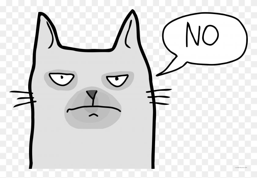 Christmas Clipart Grumpy Cat, Clip Art Grumpy Cat - Christmas Cat Clipart