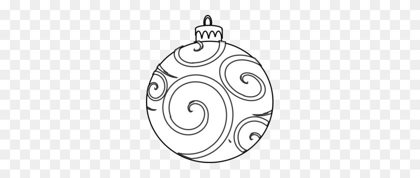 Christmas Clipart Png Black And White - Christmas Ornaments Images Clip Art