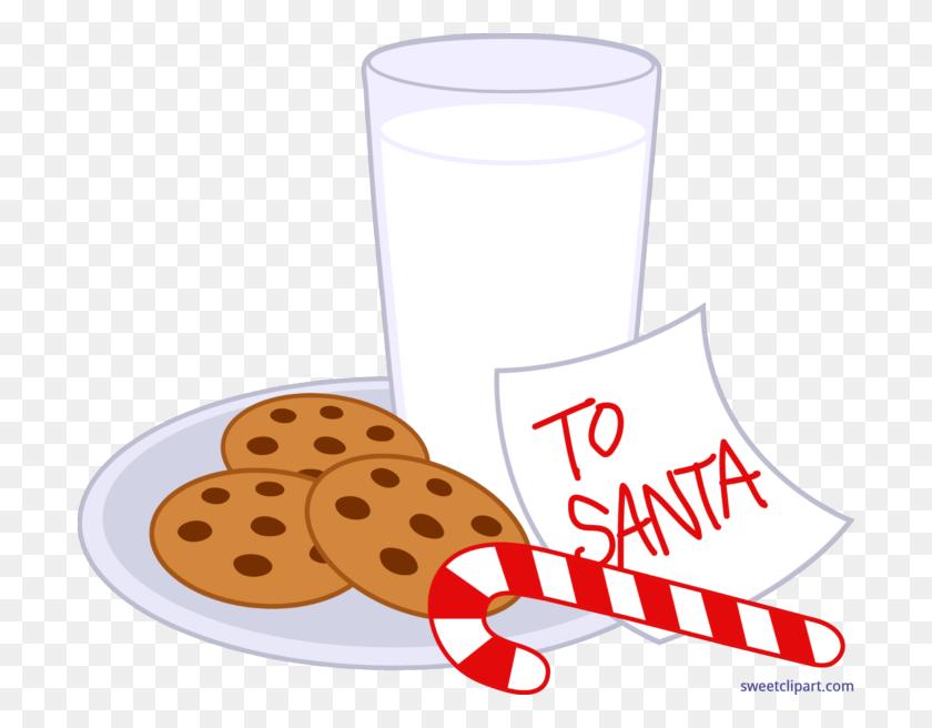 Christmas Cookies Milk Clip Art - Milk And Cookies Clipart