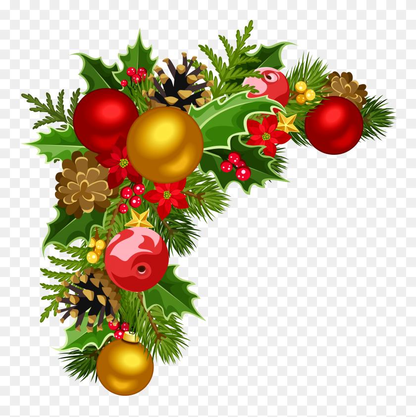 Christmas Deco Corner With Christmas Tree Decorations Clipart - Christmas Tree Decorations Clipart