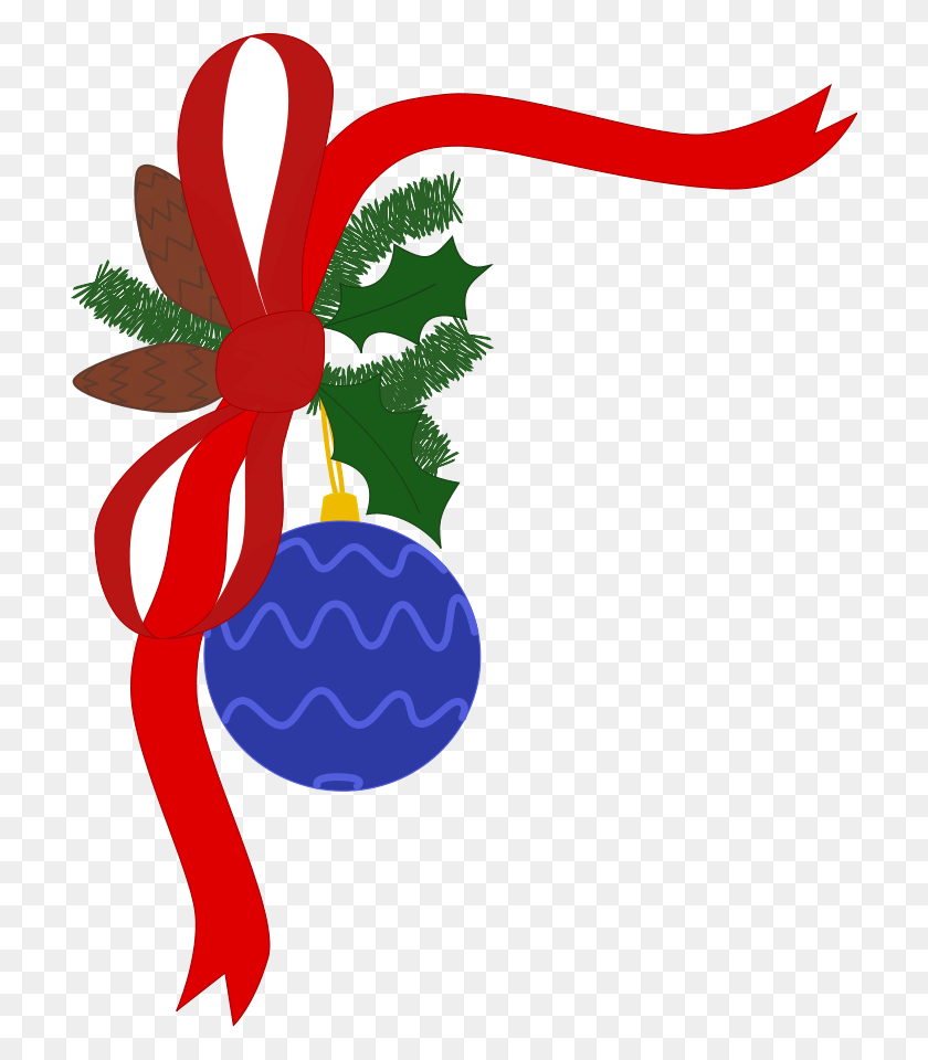 Christmas Decorations Clipart Png - Christmas Tree Clipart PNG