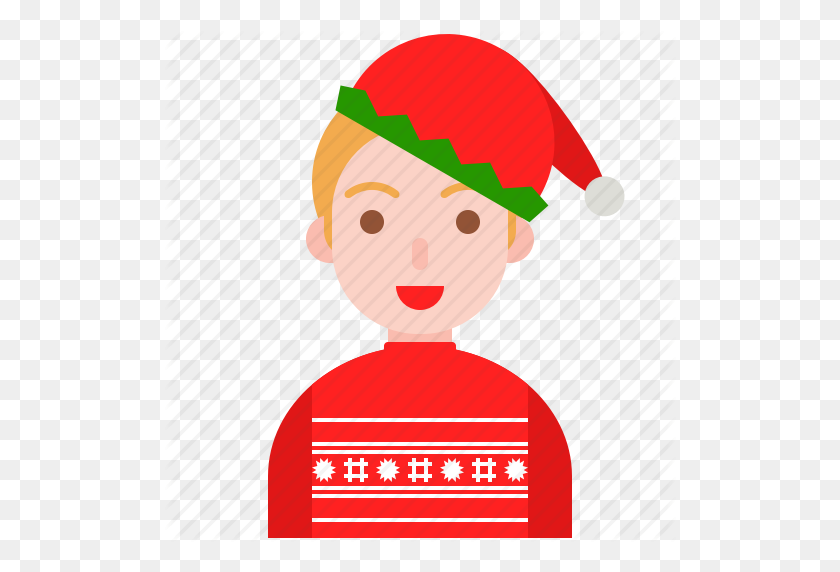 Christmas, Elf, Santa, Sweater, Ugly, Winter Icon - Ugly Christmas Sweater Clipart