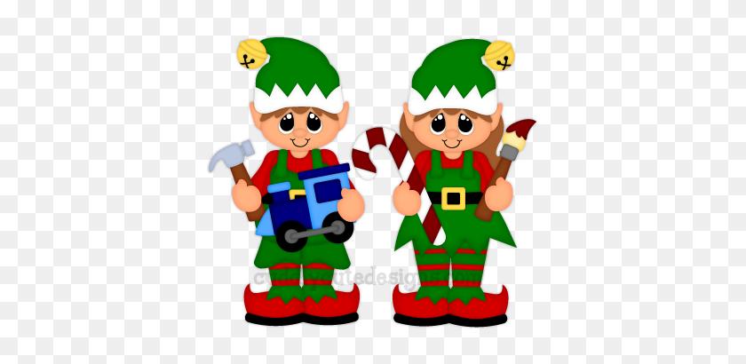 Christmas Elves Work Santa's Elves Trains Navidad - Christmas Elves Clipart