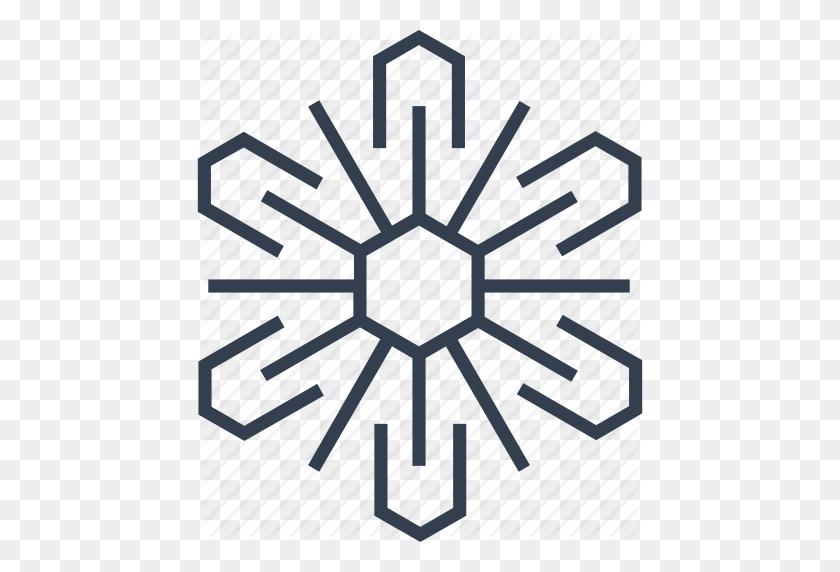 Christmas, Flake, Geometric, Hexagon, Holiday, Line, Snow - Geometric Background PNG