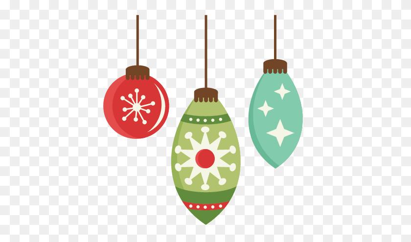 Christmas Flat Design Ornament Set Png Min - Ornament PNG