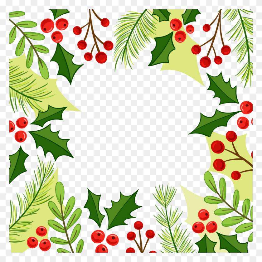 Christmas Holly Border Png - Christmas Page Border Clip Art