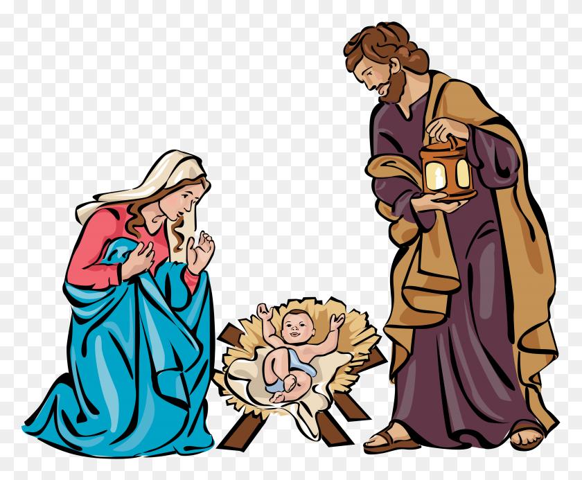 Christmas Holy Family Clip Art Churches Religious - Silent Night Clipart