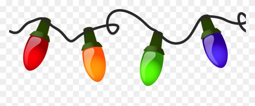 Christmas Lights Clip Art - Light Bulb Clipart No Background