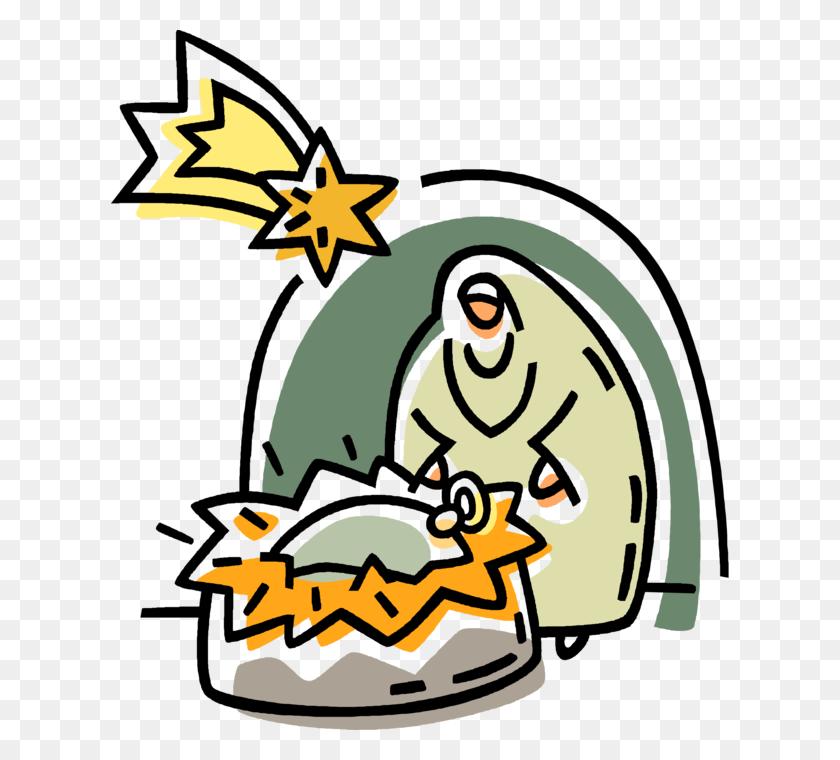 Christmas Nativity Scene - Baby Jesus Manger Clipart
