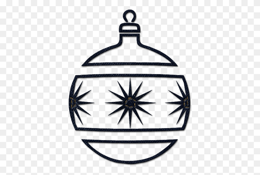 Christmas Ornament Clip Art Black And White Merry Christmas - Ornament Clipart