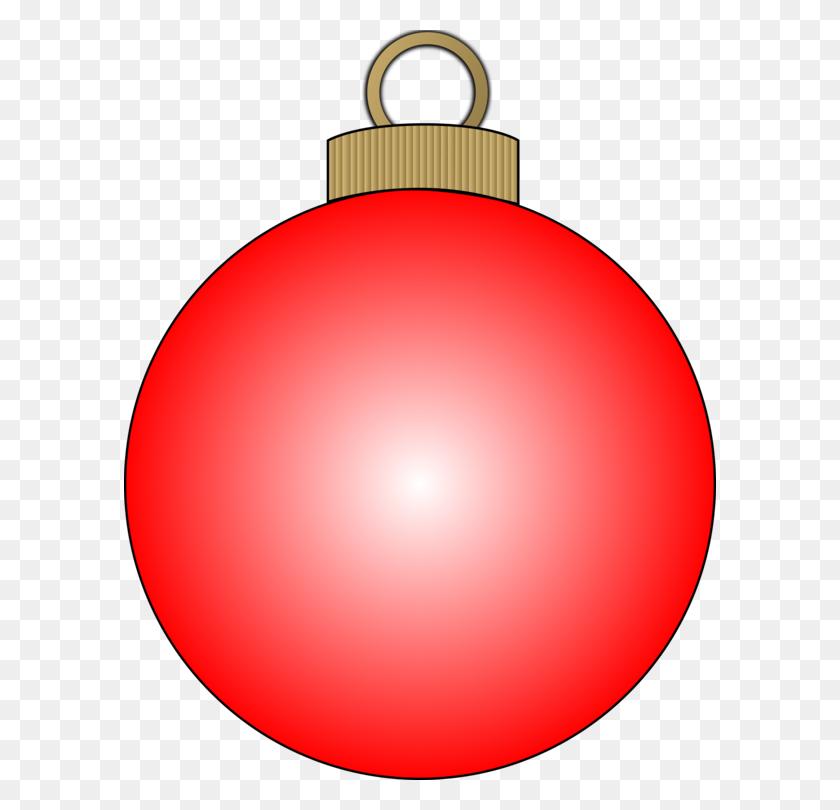 Christmas Ornament Clip Art Christmas Ball Bombka - Red Light Clipart
