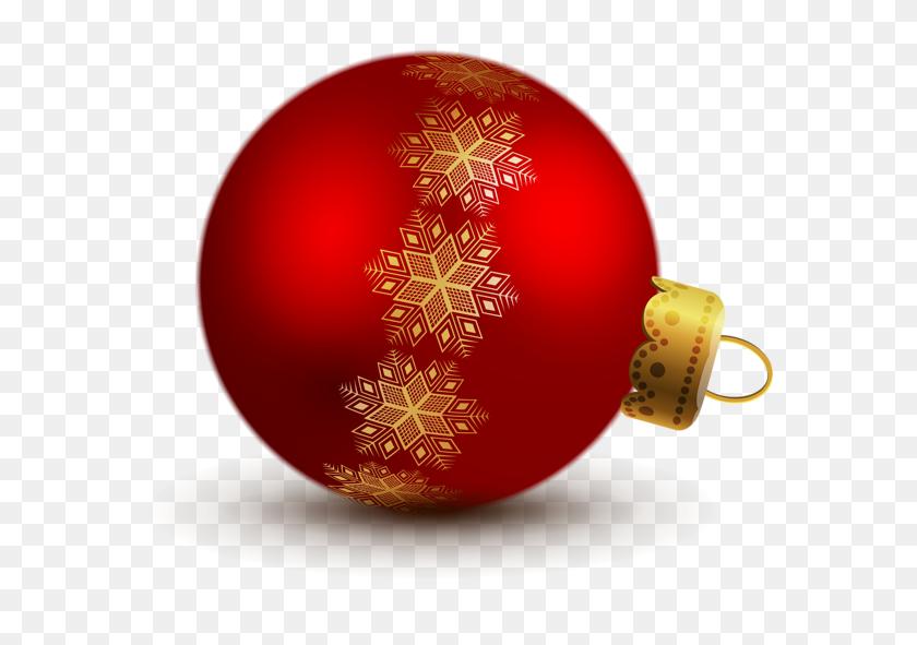 Christmas Ornament Clip Art Transparent Red Christmas Ball - Ornament Clipart