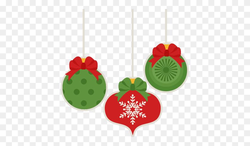 Christmas Ornament Set Scrapbook Cute Clipart - Ornament Clipart