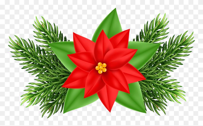 Christmas Poinsettia Deco Png Clip Art Gallery - Poinsettia Clip Art